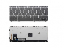 TASTATURA NOTEBOOK 6847891 UK SILVER FRAME BLACK BACKLIT HP ELITEBOOK 820 G1