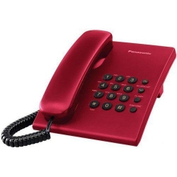 Telefon Analogic Panasonic KX-TS500FXR, red