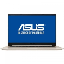 Ultrabook ASUS VivoBook S15 S510UA-BQ423, Intel Core i5-8250U, 15.6inch, RAM 8GB, SSD 256GB, Intel UHD Graphics 620, Endless OS, Gold Metal