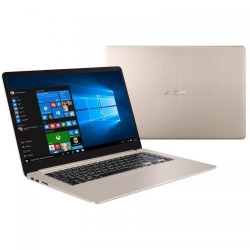Ultrabook Asus VivoBook S15 S510UA-BQ482, Intel Core i5-8250U, 15.6inch, RAM 8GB, SSD 128GB + HDD 1TB, Intel UHD Graphics 620, Endless OS, Gold Metal